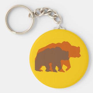 Llavero de dos osos de Brown
