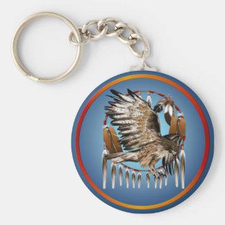 Llavero de Dreamcatcher del halcón del vuelo