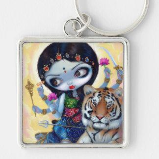 """Llavero de """"Durga y del tigre"""""""