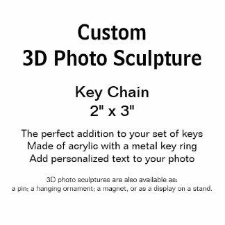 """Llavero de encargo 2"""" de la escultura de la foto llavero fotográfico"""
