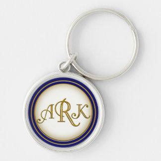 Llavero de encargo Armin del monograma del oro