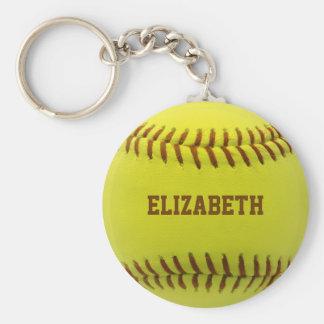 Llavero de encargo de la bola del softball