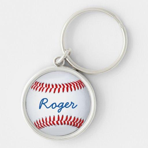 Llavero de encargo del béisbol con la plantilla co