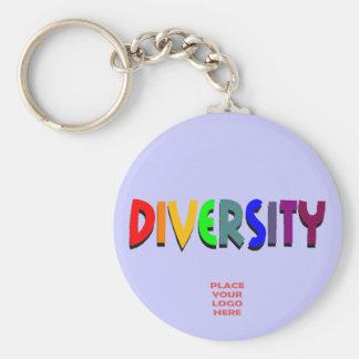 Llavero de encargo del bígaro de la diversidad
