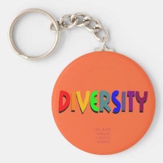 Llavero de encargo del escarlata de la diversidad
