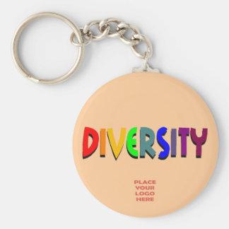 Llavero de encargo del melocotón de la diversidad