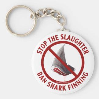 Llavero de Finning del tiburón de la prohibición