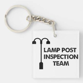 Llavero de Geocaching del equipo de inspección del