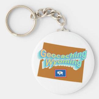 Llavero de Geocaching Wyoming