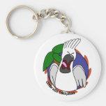 Llavero de griterío del Cockatoo del paraguas