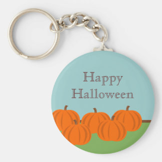 Llavero de Halloween del remiendo de la calabaza