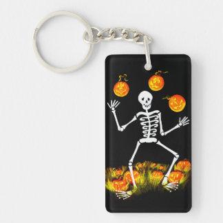 Llavero de Halloween, esqueleto, Jack-O-Linternas