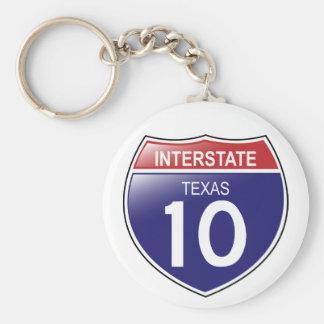 Llavero de I-10 Tejas
