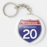 Llavero de I-20 Mississippi