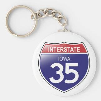 Llavero de I-35 Iowa