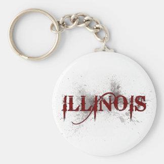 Llavero de Illinois del Grunge de la sangría
