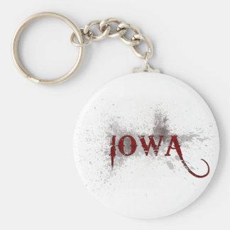 Llavero de Iowa del Grunge de la sangría
