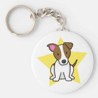 Llavero de Jack Russell Terrier de la estrella de