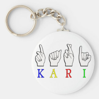 LLAVERO DE KARI FINGERSPELLED ASL NAMESIGN