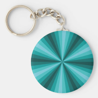 Llavero de la aguamarina de la ilusión óptica