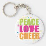 Llavero de la alegría del amor de la paz