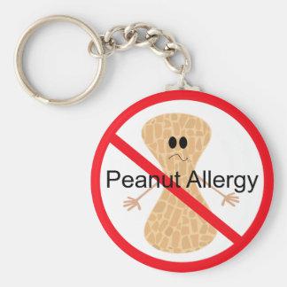 Llavero de la alergia del cacahuete