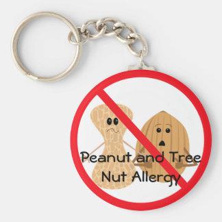 Llavero de la alergia del cacahuete y de la nuez d