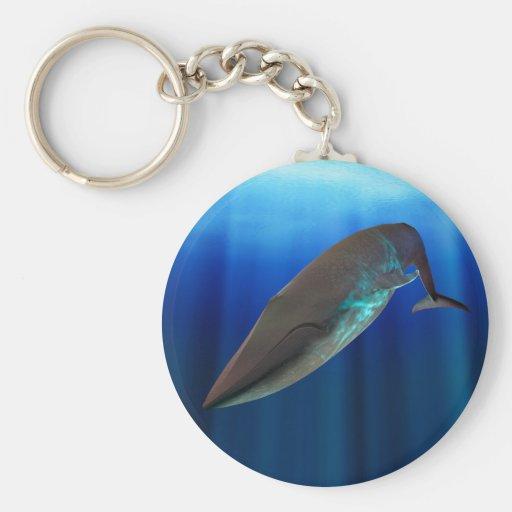 Llavero de la ballena azul