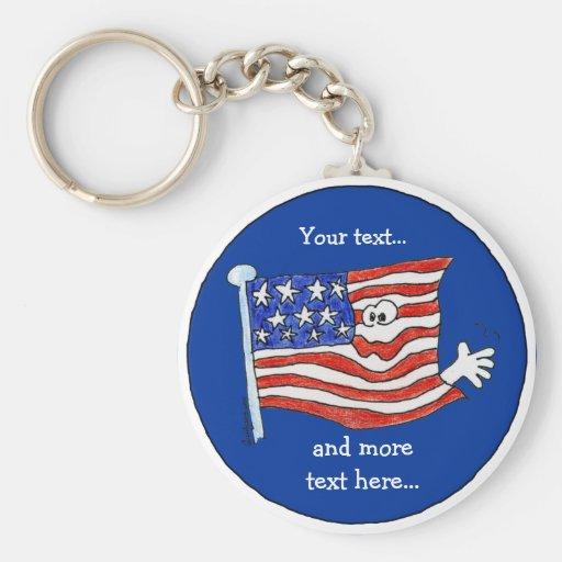 Llavero de la bandera americana a modificar para