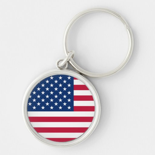 Llavero de la bandera americana de los E.E.U.U.