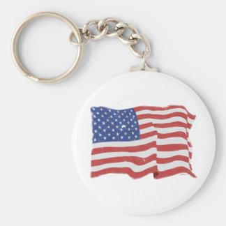 Llavero de la bandera americana del vintage