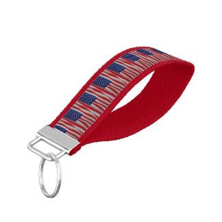 Llavero de la bandera americana llavero de pulsera