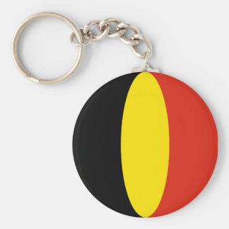 Llavero de la bandera de Bélgica Fisheye