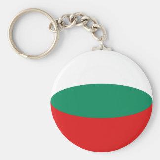 Llavero de la bandera de Bulgaria Fisheye