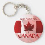 Llavero de la bandera de Canadá de los llaveros de