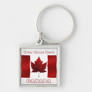 Llavero de la bandera de Canadá del llavero del re