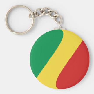 Llavero de la bandera de Congo-Brazzaville Fisheye