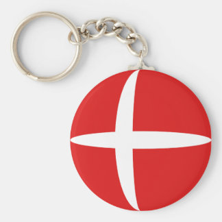 Llavero de la bandera de Dinamarca Fisheye