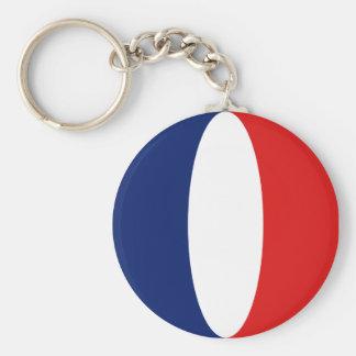 Llavero de la bandera de Francia Fisheye