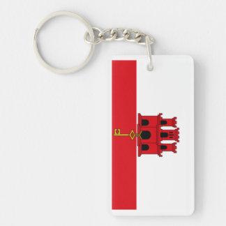 Llavero de la bandera de Gibraltar