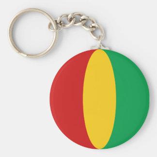 Llavero de la bandera de Guinea-Conakry Fisheye