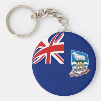 Llavero de la bandera de Islas Malvinas Fisheye