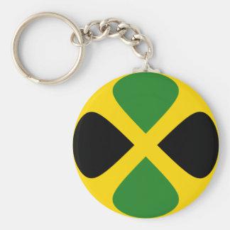 Llavero de la bandera de Jamaica Fisheye