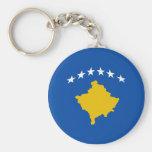 Llavero de la bandera de Kosovo Fisheye