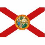 Llavero de la bandera de la Florida cortado Esculturas Fotográficas
