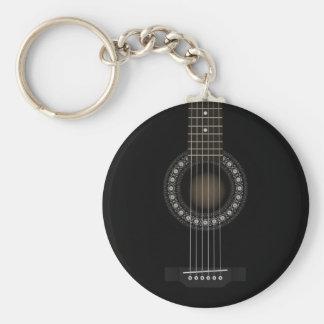 Llavero de la bandera de la guitarra acústica