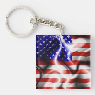 Llavero de la bandera de los E.E.U.U. de las barra