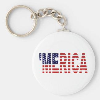 'Llavero de la bandera de MERICA los E.E.U.U. Llavero Redondo Tipo Pin