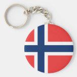 Llavero de la bandera de Noruega