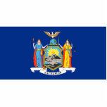 Llavero de la bandera de Nueva York cortado Esculturas Fotograficas